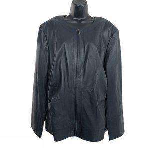 Lafayette Leather Jacket Full Zip Women's Size 22